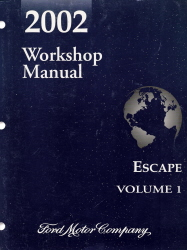 2002 Ford Escape Factory Workshop Manual - 2 Volume Set