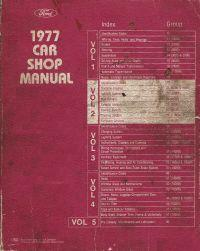 1977 Ford Car Factory Shop Manual - 5 Volume Set