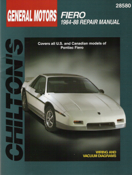 1984 - 1988 Pontiac Fiero, All Models Chilton's Total Car Care Manual