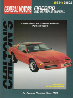 1982 - 1992 Pontiac Firebird, Chilton's Total Car Care Manual