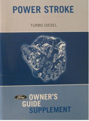 2005 Ford 6.0L Direct Injection TurboDiesel Powerstroke Factory Owner's Guide Supplement
