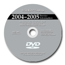2004 - 2005 Model Years Ford / Lincoln / Mercury Cars: Factory Service Information DVD-ROM