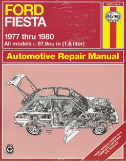 1977 - 1980 Ford Fiesta  Haynes Repair Manual