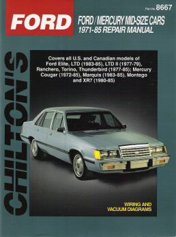 1971 - 1985 Ford Mid-Size Cars Chilton's Total Car Care Manual