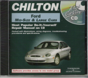 1983 - 1999 Ford Manual on CD-ROM: Mid & Full Size Cars- Ford Service Manual CD / Chilton Manual CD