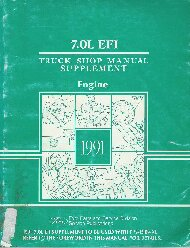 1991 Ford 7.0L  EFI Engine Shop Manual Supplement