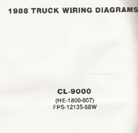 1988 Ford Medium / Heavy Truck CL-9000 Wiring Diagrams