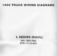 1988 Ford Medium / Heavy Truck L-Series Wiring Diagrams (Haul Configuration)