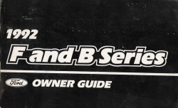 1992 Ford F and B  Series Medium Duty Truck Owners Manual