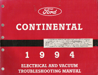 1988 Lincoln Continental EVTM- Electrical & Vacuum Troubleshooting Manual
