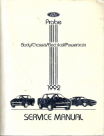 1992 Ford Probe Service Manual - Body/Chassis/Electrical/Powertrain