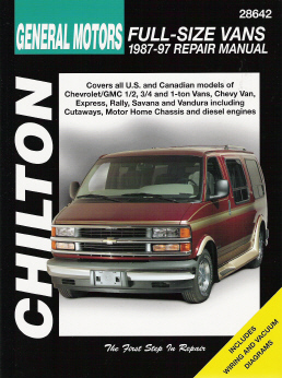 1987 - 1997 Chevrolet & GMC 1/2, 3/4 & 1 Ton Vans Chilton's Total Car Care Manual