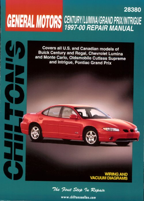 1997 - 2000 Buick Century, Regal, Chevy Lumina, Monte Carlo, Olds Cutlass Supreme & Pontiac Grand Prix, Intrigue Chilton's Total Car Care Manual