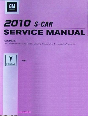 2010 Pontiac Vibe Factory Service Repair Manual- 3 Volume Set
