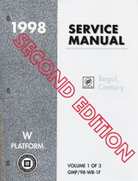 1998 Buick Regal, Century Service Manual - 3 Volume Set