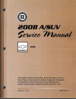 2008 Chevrolet HHR Factory Service Repair Workshop Manual, 3 Vol. Set