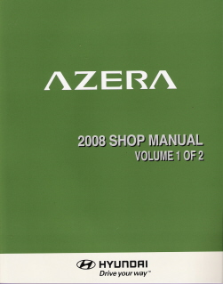 2008 Hyundai Azera Factory Service Manual - Volume 1 of 2