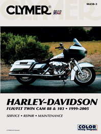 1999 - 2005 Harley-Davidson FLH/FLT Twin Cam 88 & 103 Clymer Service, Repair & Maintenance Manual