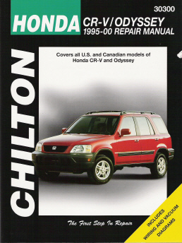 1995 - 2000 Honda Cr-V  & Odyssey Chilton's Total Car Care Manual