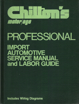 1973 - 1979 Chilton's Import Service Manual & Labor Guide