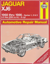 1968 - 1986 Jaguar XJ6 Series 1, 2 & 3 Haynes Repair Manual