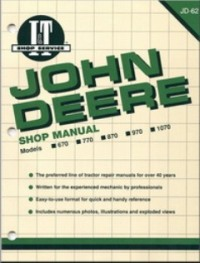 John Deere I&T Tractor Service Manual JD-62