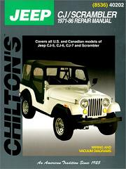 1971 - 1986 Jeep CJ, Scrambler & Wrangler Chilton's Total Car Care Manual