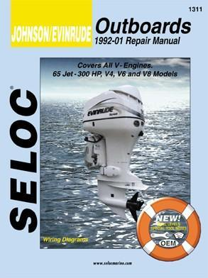 1992 - 2001 Johnson / Evinrude Outboards All V Engines Seloc Repair Manual
