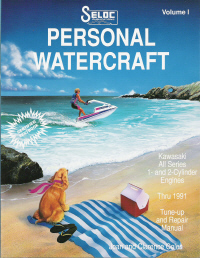 1973 - 1991 Kawasaki Personal Watercraft Jet Ski Clymer Repair Service Shop Manual