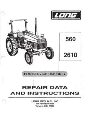 Long 560, 2610 Tractor Service Manual