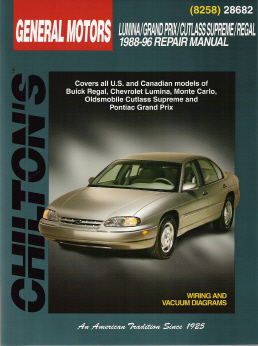 1988 - 1996 Chevrolet Lumina, Pontiac Grand Prix, Oldsmobile Cutlass Supreme & Buick Regal Chilton's Total Car Care Manual