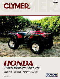 2001 - 2004 Honda TRX500 Foreman, Rubicon Clymer ATV Service, Repair, Maintenance Manual