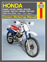 1985 - 2016 Honda XR50R - XR100R & CRF50F - CRF100F Haynes Repair Manual