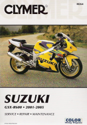2001 - 2005 Suzuki GSX-R600 Clymer Repair Manual