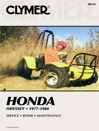 1977 - 1984 Honda Odyssey FL250 Clymer ATV Service, Repair, Maintenance Manual