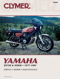 1977 - 1981 Yamaha XS750 & XS850 Clymer Repair Manual