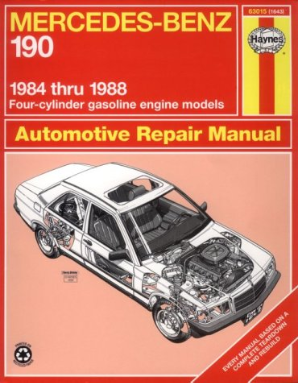 1984 - 1988 Mercedes-Benz 190, 4-Cylinder Gas Engine Models Haynes Repair Manual