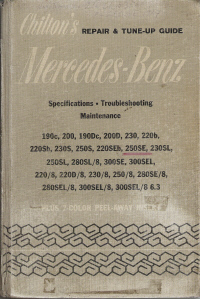 1970 & Up, Mercedes Benz Chilton's Repair & Tune-up Guide