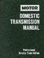 1988 - 1992 MOTOR Domestic Transmission Manual, 4th Edition