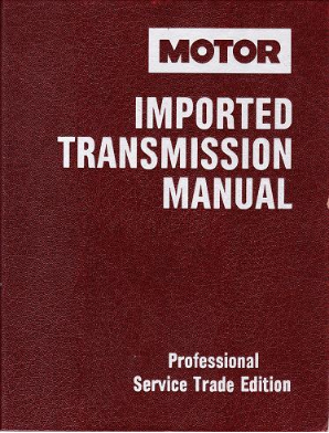 1989 - 1993 MOTOR Import Transmission Manual, 6th Edition