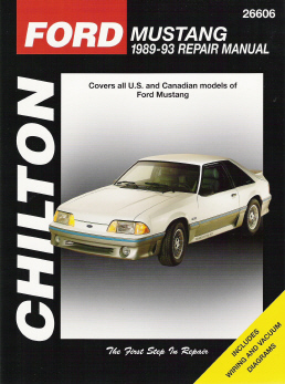 1989 - 1993 Ford Mustang Chilton's Total Car Care Manual