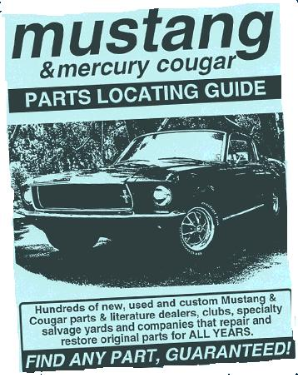 Mustang & Cougar Parts Locating Guide