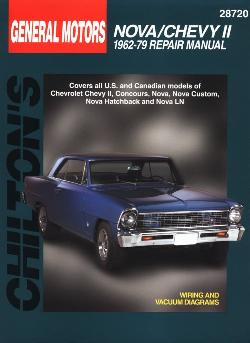 1962 - 1979 Chevrolet Nova / Chevy II Chilton's Total Car Care Manual