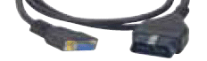 Pegisys Adapter Cable: OBD-II 16 Pin to M-VCI 26-Pin