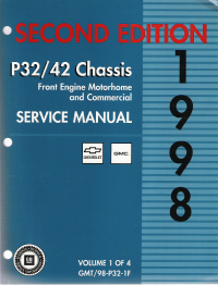 1998 Chevrolet & GMC P30, P32, P40 & P42 Motorhome & Commercial Chassis Service Manual - 4 Volume Set
