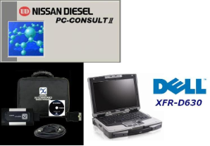 Dell Fully Rugged XFR-D630, d-briDGe Adapter & OEM Consult-2 Software for 2005-2010 UD Truck w/ Hino Engine Preloaded