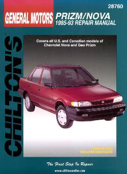 1985 - 1993 Chevrolet Nova & Geo Prizm Chilton's Total Car Care Manual
