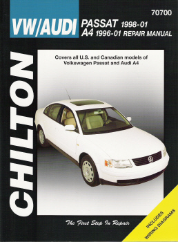 1998 - 2005 VW Passat, 1996 - 2001 Audi A4 Chilton's Total Car Care Manual