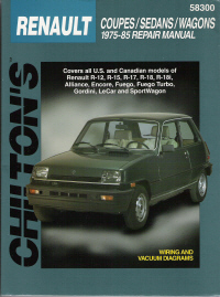 1975 - 1985 Renault Coupes / Sedans / Wagons , Chilton's Total Car Care Manual