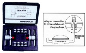 Robinair Process Tube Adapter Kit